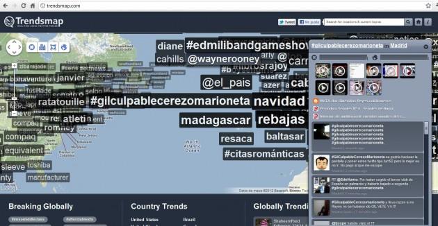 gilculpablecerezomarioneta fue trending topic