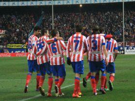 Celebración del gol de Koke Atlético Levante 12/13