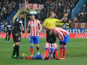 Falcao se lesiona. Atlético Levante 12/13