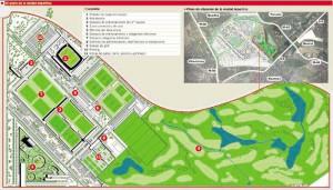 El plano definitivo de la ciudad deportiva se presentó en As en 2008.