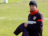 Simeone en un entrenamiento.