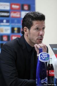 Simeone en la conferencia de prensa. Getafe - Atlético de Madrid