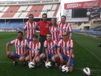 Blogeros del Atlético de Madrid y Juanfran Torres. Evento de Coca-Cola