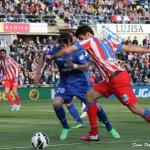 Diego Costa dribla a Valera. Getafe Atletico-