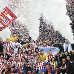 El Atlético de Madrid celebra la Copa del Rey 2013