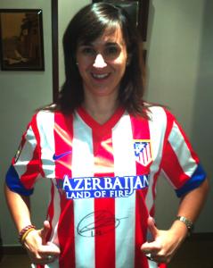 Camiseta del Atleti firmada por Gabi