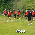 Raúl García, Juanfran, Koke, Falcao Atlético de Madrid.