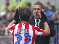 Simeone y Diego Ribas con el Atlético de Madrid