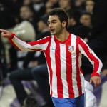 Adrián celebra un gol con el Atlético de Madrid