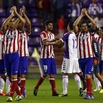 Jugadores del Atletico en Valladolid