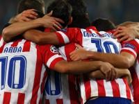 celebracion gol del Atletico en Viena