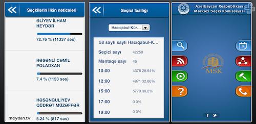 app electoral Azerbaiyán
