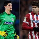 Courtois y Diego Costa