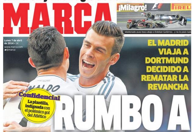Marca el gol del Raúl García indigna al Madrid