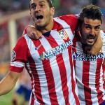Koke y Villa gol del Atlético al Barcelona