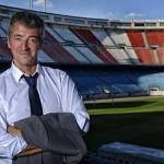 Gil Marín en el estadio Vicente Calderón