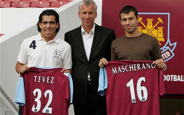 Tévez Mascherano West Ham