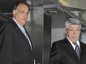 Javier Tebas y Enrique Cerezo