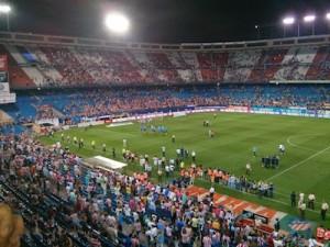 vuelta de honor Atlético campeón de Liga