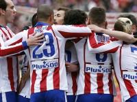 Atlético celebra gol al Madrid